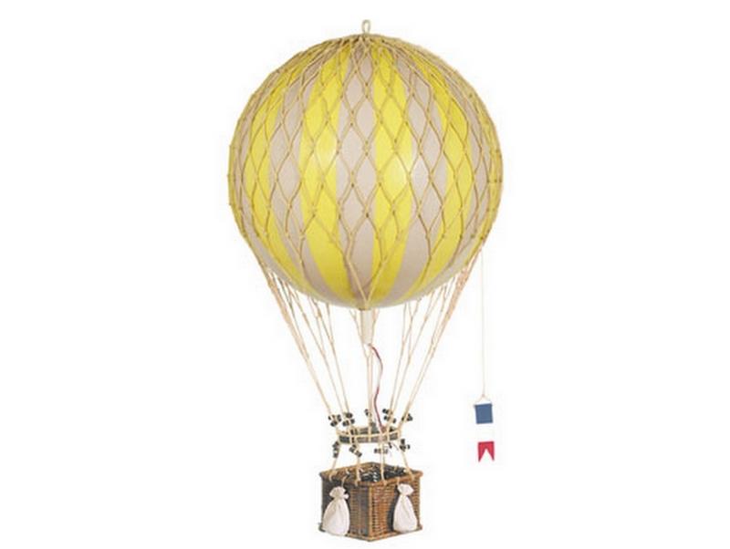 画像1: 【再入荷】バルーン(熱気球)オブジェ L/イエロー