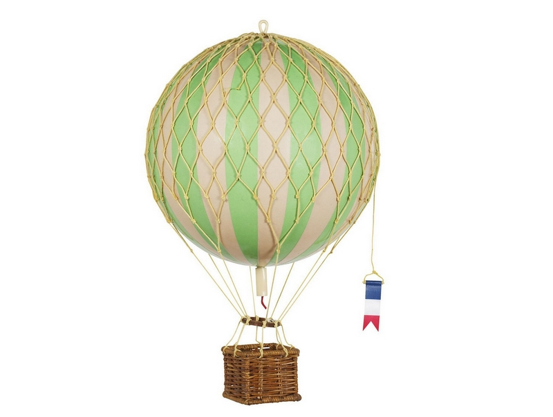 画像1: 【再入荷】バルーン(熱気球)オブジェ M/グリーン