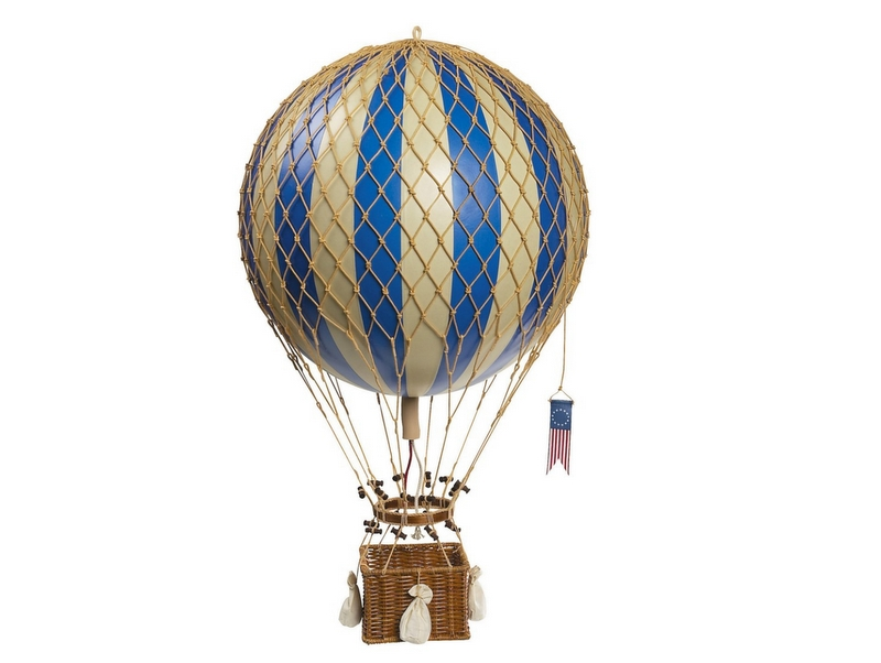 画像1: 【再入荷】バルーン(熱気球)オブジェ L/ブルー