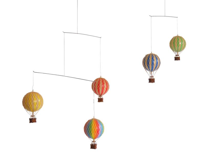 画像1: 【再入荷】バルーン(熱気球)のモビール レインボー