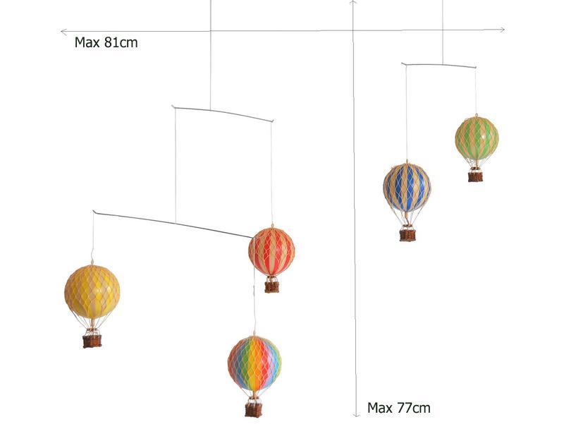 画像2: 【再入荷】バルーン(熱気球)のモビール レインボー