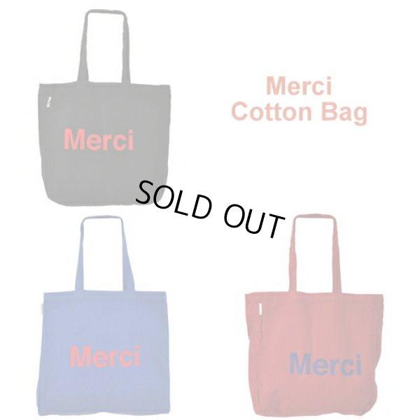 画像1: MERCI メルシーコットン製エコバッグ