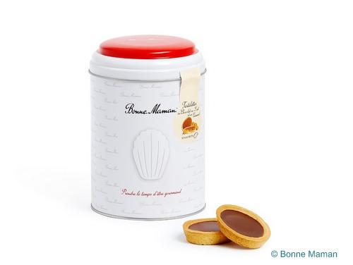 画像1: 【限定品】Bonne Maman ボンヌママン缶入りタルト(チョコレート&キャラメル)