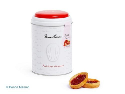 画像1: 【限定品】Bonne Maman ボンヌママン缶入りタルト(フランボワーズ)