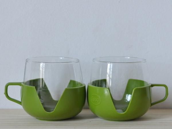 画像1: ガラス製カップ2客セット