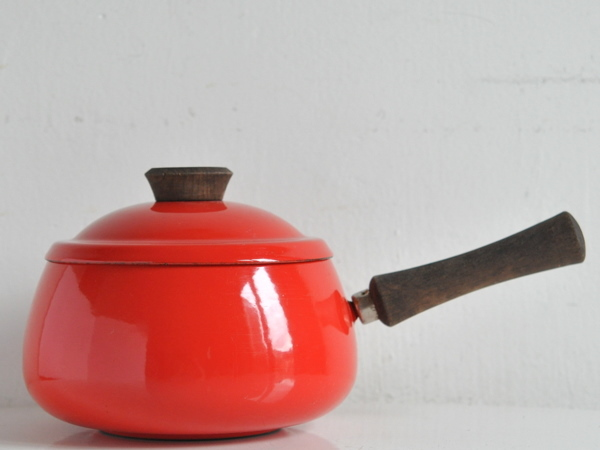 画像1: ヴィンテージホウロウ鍋