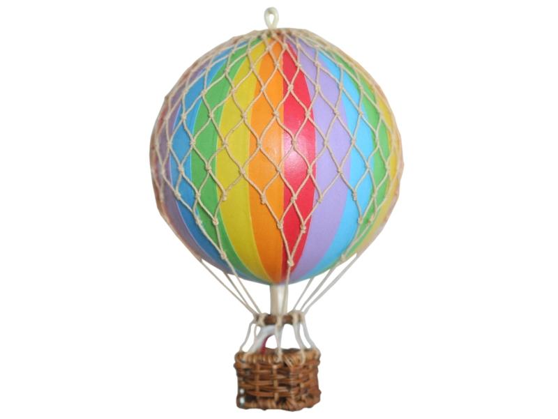 画像1: バルーン(熱気球)オブジェ S/レインボー