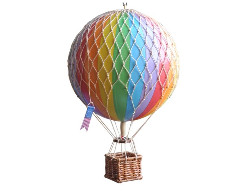 画像1: 【再入荷】バルーン(熱気球)オブジェ M/レインボー