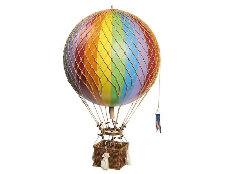 画像1: 【再入荷】バルーン(熱気球)オブジェ L/レインボー