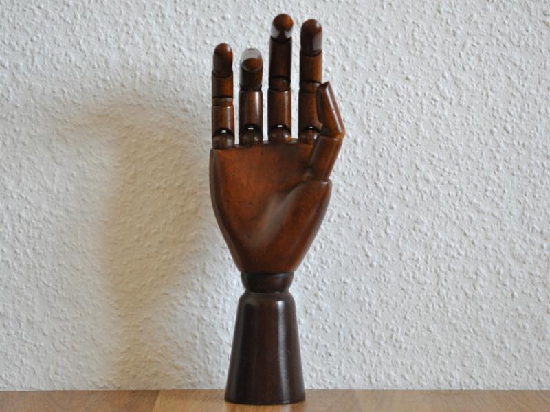 画像1: 【再入荷】木製の手のモデル
