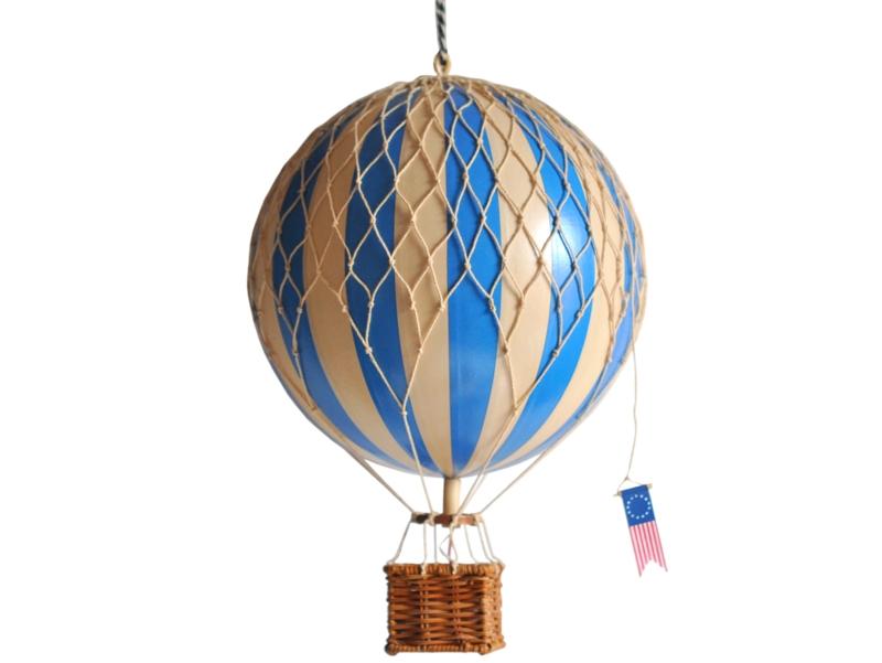 画像1: 【再入荷】バルーン(熱気球)オブジェ M/ブルー