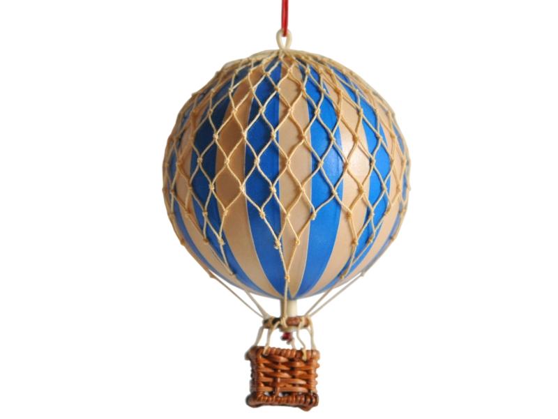 画像1: 【再入荷】バルーン(熱気球)オブジェ S/ブルー