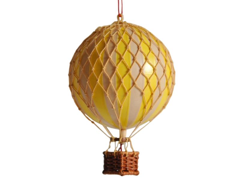 画像1: 【再入荷】バルーン(熱気球)オブジェ S/イエロー