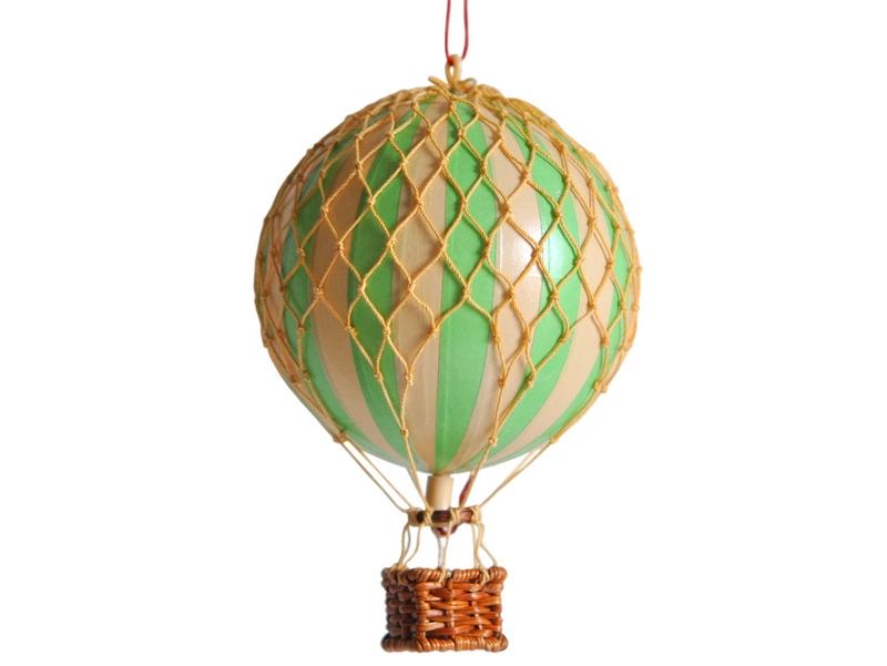 画像1: 【再入荷】バルーン(熱気球)オブジェ S/グリーン