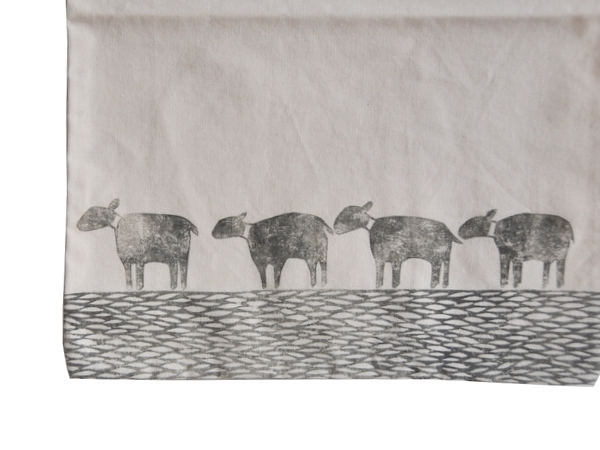 画像2: 羊のコットンエコバッグ-4-