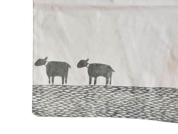 画像2: 羊のコットンエコバッグ-2-
