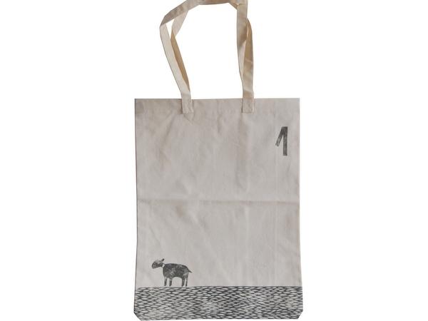 画像1: 羊のコットンエコバッグ-1-