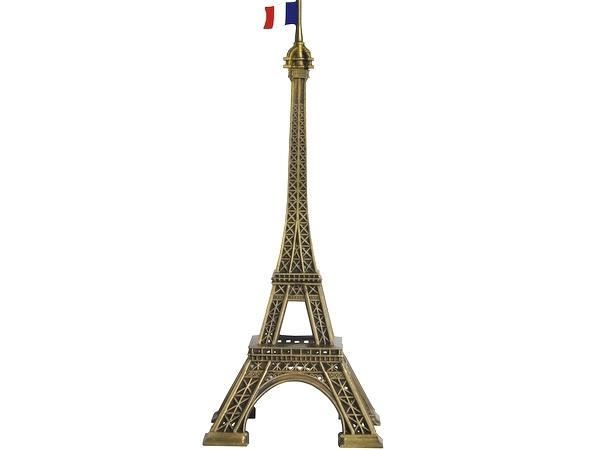 画像1: エッフェル塔オブジェ17.0cm(フランス国旗付)