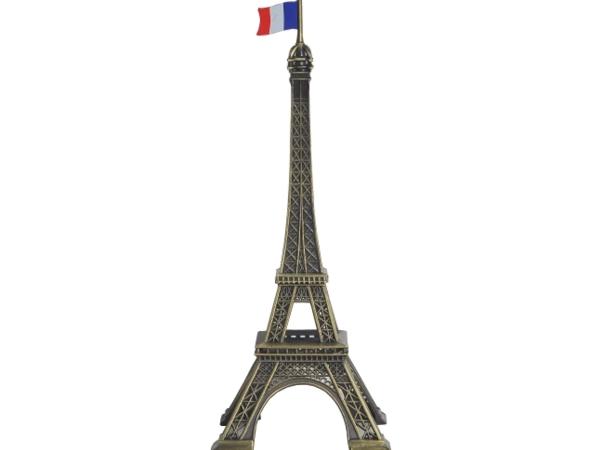 画像1: エッフェル塔オブジェ22.0cm(フランス国旗付)