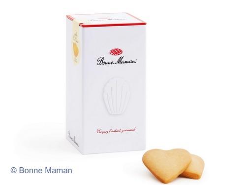 画像1: 【限定品】Bonne Maman ボンヌママン缶入りハート型サブレ