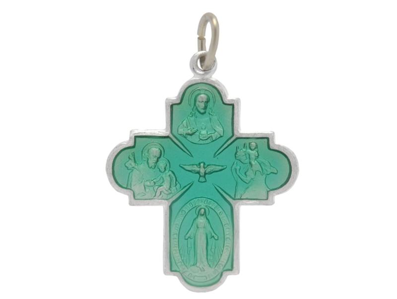 画像1: croix des 4 chemins グリーンクロスチャーム