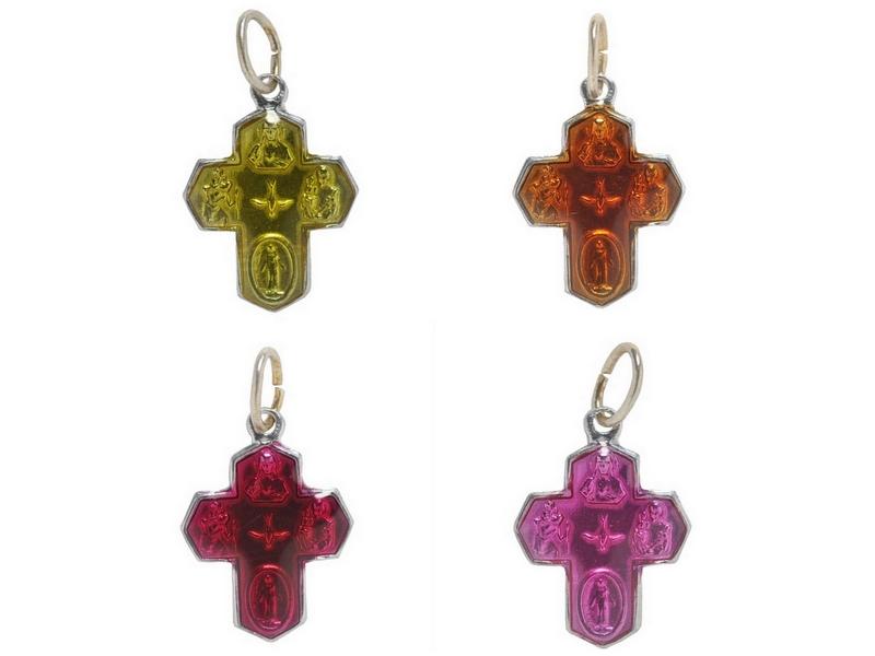 画像1: croix des 4 chemins カラープチクロスチャーム