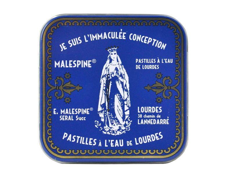 画像1: ルルドの聖水入りパスティーユ/ルルドの泉キャンディー缶入り100g